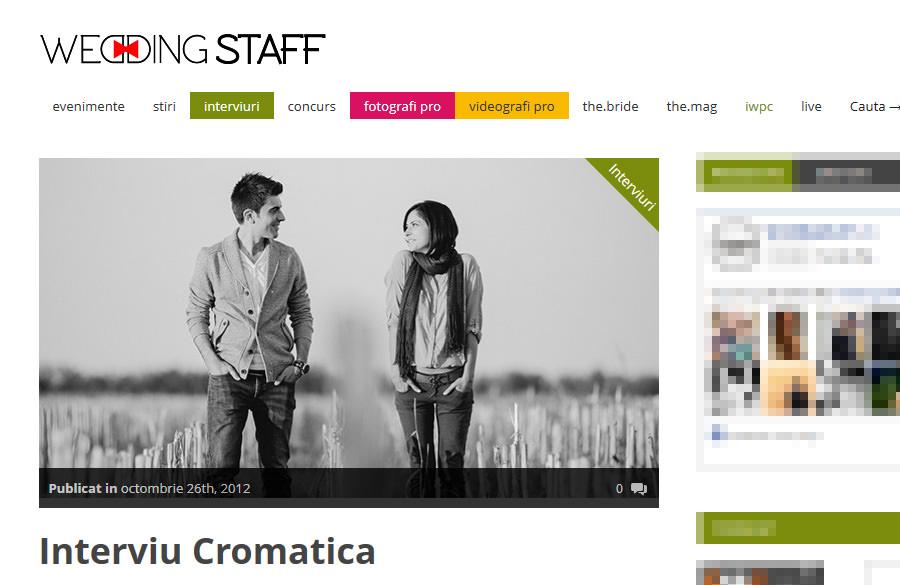 Interviu Cromatica pentru WeddingStaff.ro