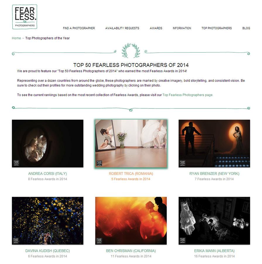 """Cromatica în """"Top 50 Fearless Photographers of 2014"""""""