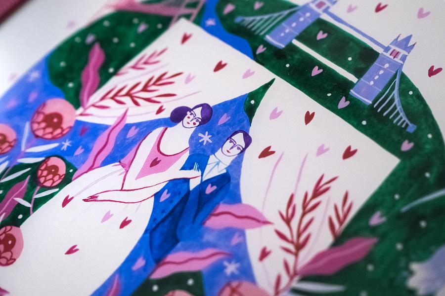 Album de nuntă cu copertă ilustrată de Mădăina Andronic (1)