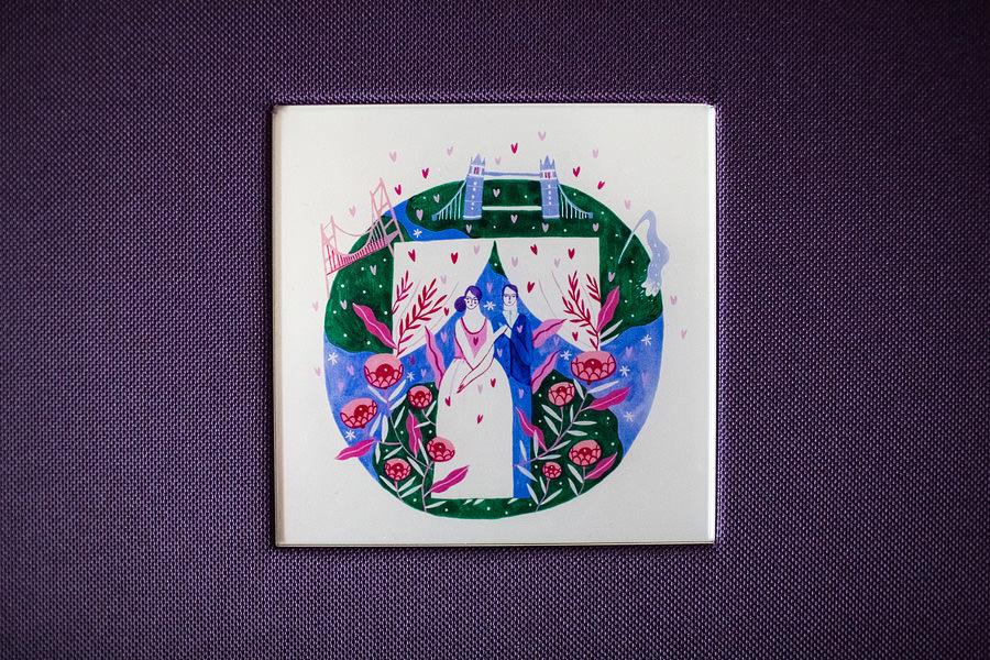 Album de nuntă cu copertă ilustrată de Mădăina Andronic (3)