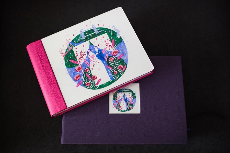 Album de nuntă cu copertă ilustrată de Mădăina Andronic (4)