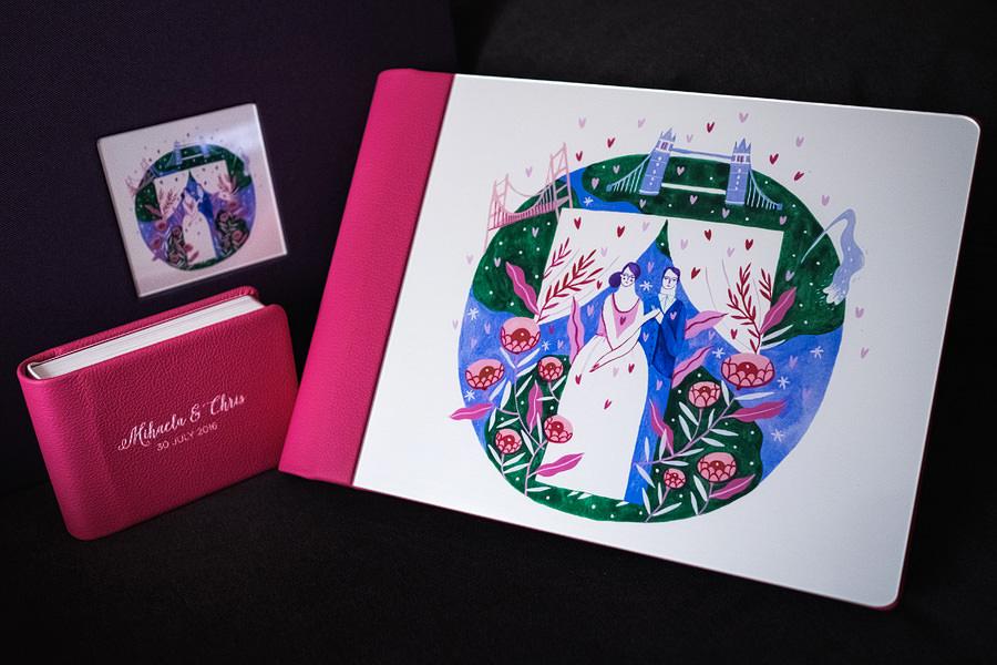 Album de nuntă cu copertă ilustrată de Mădăina Andronic (6)