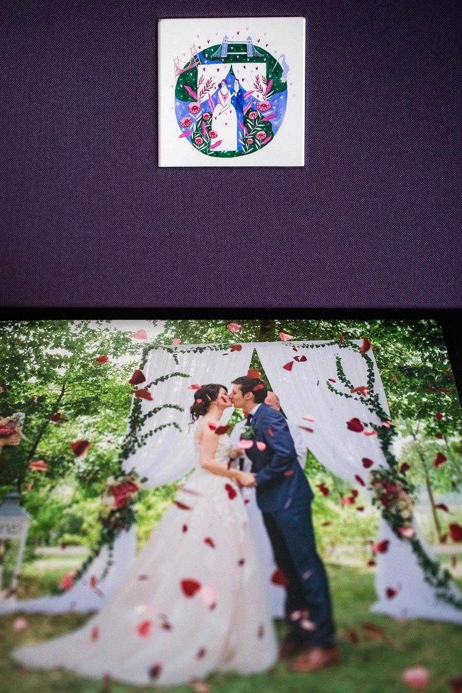 Album de nuntă cu copertă ilustrată de Mădăina Andronic (7)
