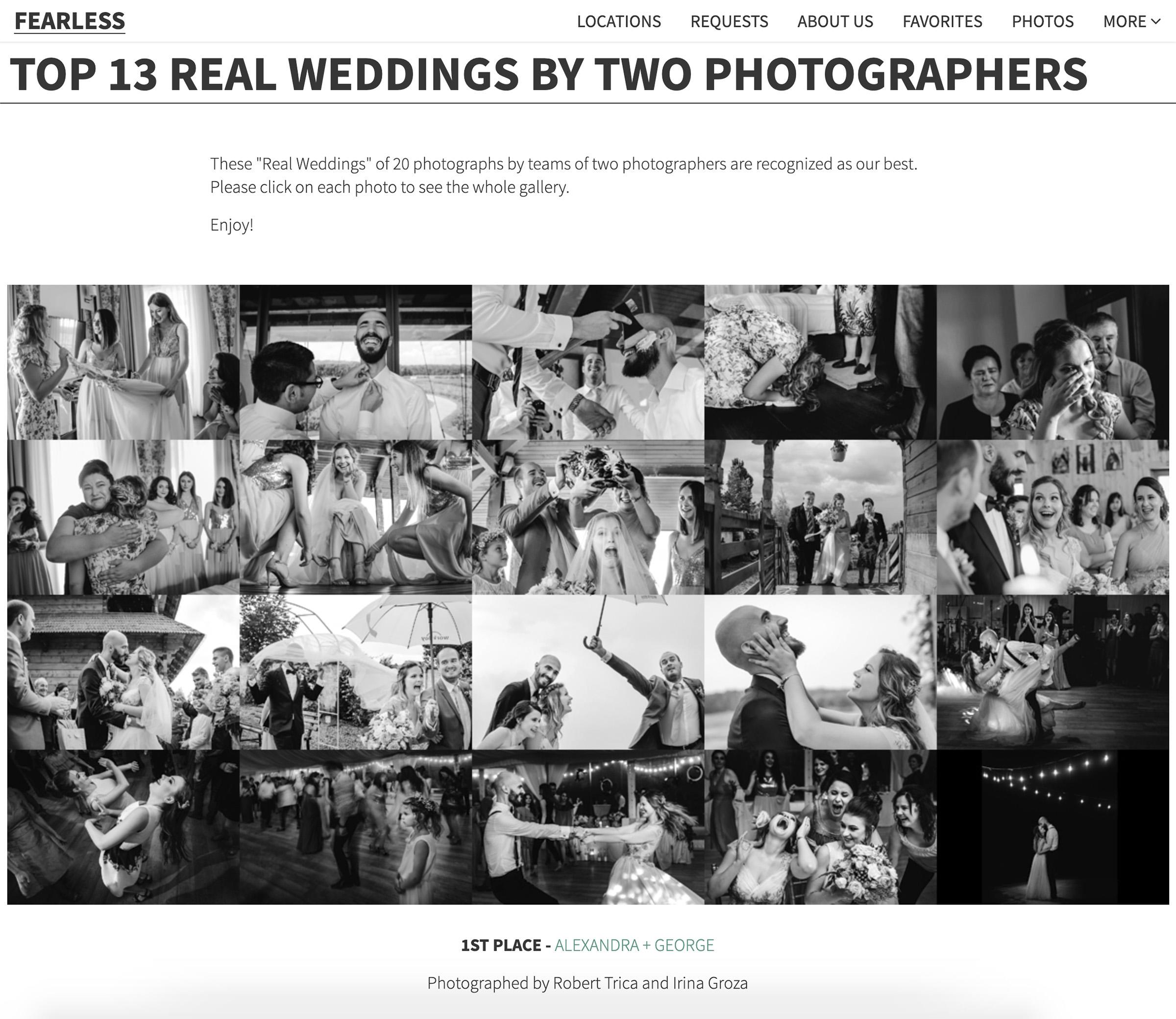 cea mai buna echipa de fotografi fearless photographers